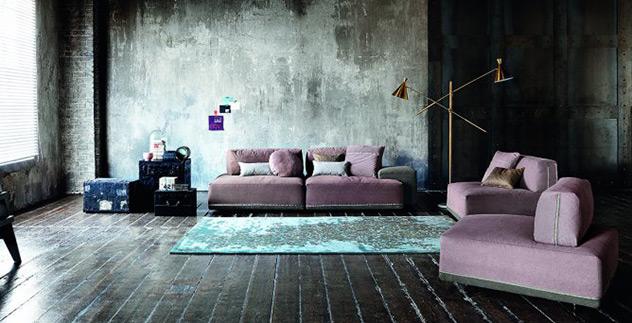 Ditre italia un divano modulare per il comfort - Divano al centro della stanza ...