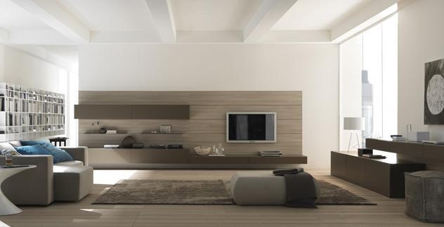 Parete salotto in pietra idee per il design della casa - Camino in camera da letto ...
